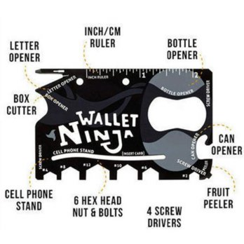 Wallet Ninja 18in1 pocket tool