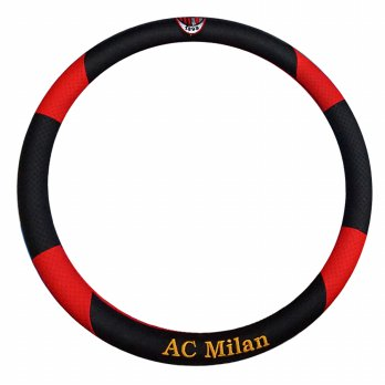 Custom Sarung Stir Bola / Cover Steer Mobil Football Club - AC Milan