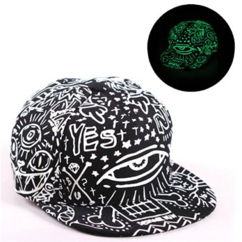 Topi Baseball Snapback Glow in the DarkLuminous Eyes