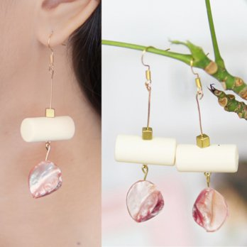 Anting Korea Round Tube Shell earrings
