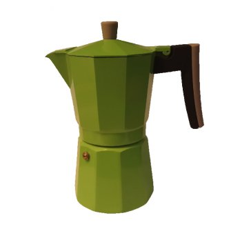 Cafetera Percolator Coffee/Teko Kopi/Moka Pot Alumunium 9 Cup Green