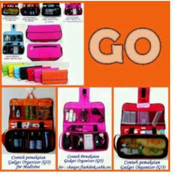 GCO - Gadget Charger Organizer (Penyimpan Gadget/Hand Phone Charger, Kabel Data, USB, Flash Disk