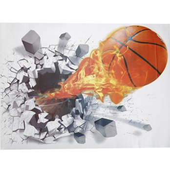 Sticker Wallpaper Dinding Fire Basket Ball