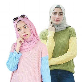 5 WARNA BOXY RAGLAN PREMIUM SWEATER / BOXY COMBY SWEATER
