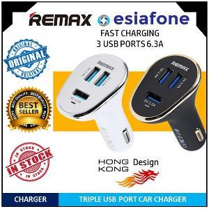 [esiafone best choice] REMAX Triple USB Car / Mobil Charger 6.3A for Smartphone (Original)