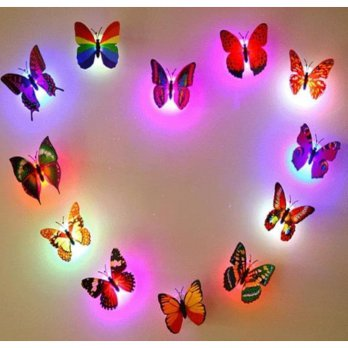 LED Kupu Kupu LED Butterfly LED lampu Kamar LED Dekorasi  SJ0099