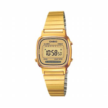 Casio LA670WGA-9 Stainless Steel Band Watch Gold (Intl)