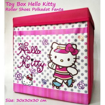 Toy Box Triplek Hello Kitty Roller Shoes Polkadot Fanta (Kotak Mainan Karakter) Foldable Storage