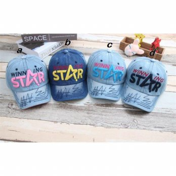 TOPI CAP ANAK LUCU DENIM WINNING STAR (RSBY-3068)