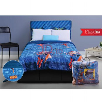 PILLOW PEOPLE Bed Cover Justice League - Dark Blue/210x210