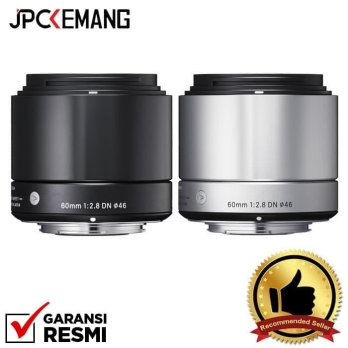 Sigma for Sony E Mount 60mm f/2.8 DN | A Black - Hitam
