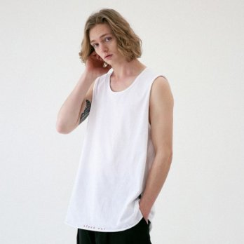 [Massnoun] layered Sleeveless MUVSV001-WT