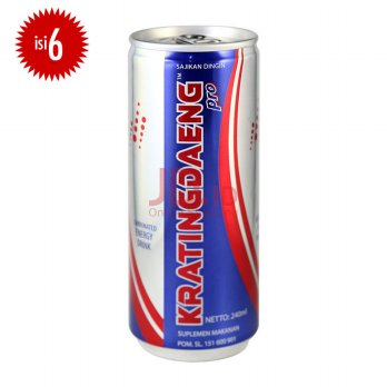 KRATINGDAENG Pro Can 240 ml - Isi 6 (JABODETABEK ONLY)