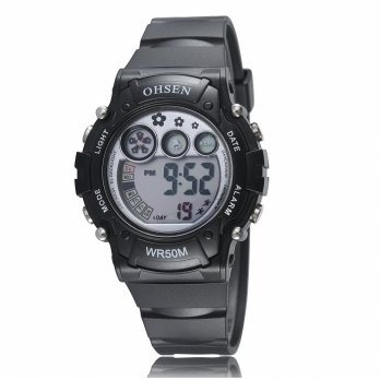Ohsen Waterproof Digital Sport Watch - AD1508-1 - Hitam