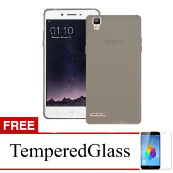 Case for Oppo Neo 9 A37 Abu abu Gratis Tempered Glass Ultra Thin .