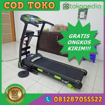 Alat TREADMILL ELEKTRIK Murah Manual Incline TOTAL FITNESS TL130 - Hitam