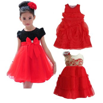 [NATAL Christmas] DRess 3d Rose Petal Merah / black red