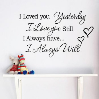 Sticker Wallpaper I Loved You