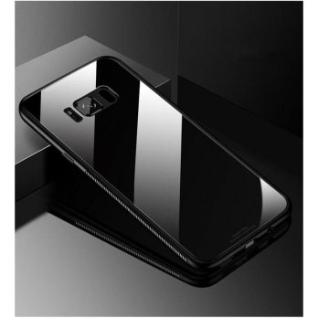 Samsung S8 Case Luxury Tempered Glass Premium Case Hitam
