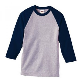 [Anvil] 2184 Baseball Tee (Heather/Navy)