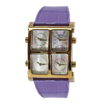 Alexandre Christie 2409LH Jam Tangan Wanita Strap Leather - Gold