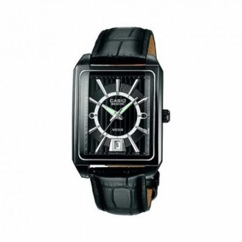 Casio Beside BEM-120BL-1AVDF Jam Tangan Pria Stainless Steel - Black