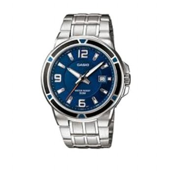 Casio Man Analog MTP-1330D-2AVDF Jam Tangan Pria Ion Plated - Blue