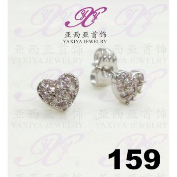 Anting emas Love jewel silver Perhiasan imitasi Yaxiya Jewelry 159