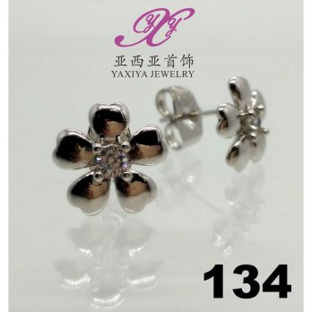 Anting emas white flower jewel perhiasan imitasi yaxiya jewelry 134