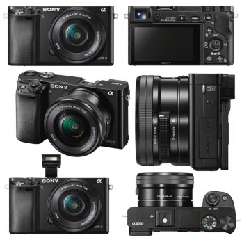 Sony Alpha A6000L KIT 16-50mm f/3.5-5.6 OSS Black Kamera Mirrorless