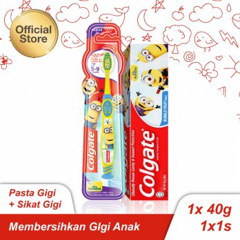 Colgate Toothpaste for Kids Minions 40gr   Toothbrush Minions (>5yo)