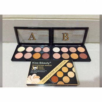 KISS BEAUTY CONTOUR 9727 3IN1 PROFESSIONAL MAKE UP