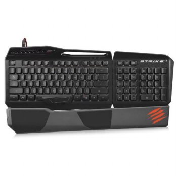 Mad Catz S.T.R.I.K.E. 3 Gaming Keyboard for PC - Gloss Black