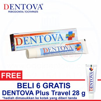 DENTOVA PLUS Pasta Gigi Sensitif dengan Tea Tree Oil & Vitamin C 80g