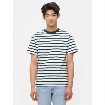 8SECONDS [Lab8?] Basic Striped Cool T-Shirt - Green