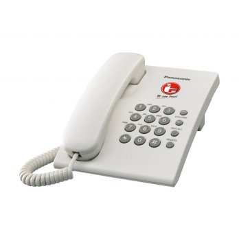 Panasonic Single Line Telephone KX-TS505 MX Telepon Kabel [White]