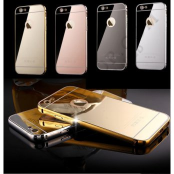 LUXURY ALUMINIUM BUMPER MIRROR IPHONE 6 PLUS 6S PLUS(5.5) GOOD QUALITY