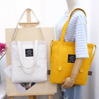 Korea Solid Color Tote shoulder Bag Versi 2 / Tas Selempang Wanita - JC005B