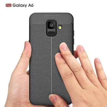 Casing Samsung A6 A6 2018 Leather Autofocus Experience