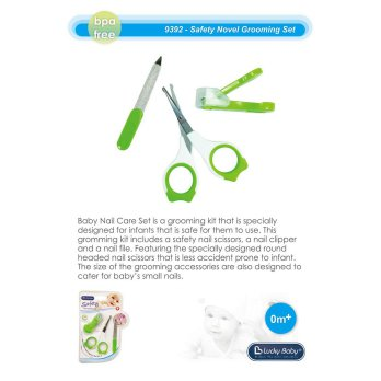 Lucky Baby Manicure Pedicure Set Isi 3 Piece BPA Free