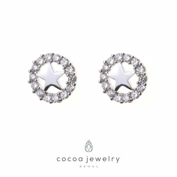 Cocoa Jewelry Circle Star Earring - No Box