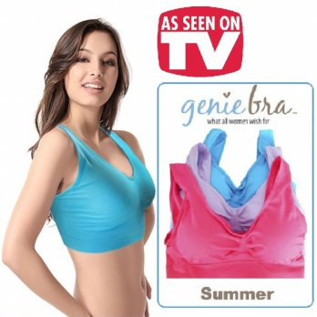 Genie Bra Colour With Pads ( 1 Box isi 3 set)