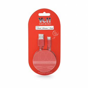 YE!! Ba10L 2.4A Lightning Cable 1M Red