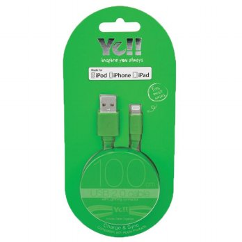 YE!! Ba10L 2.4A Lightning Cable 1M Green