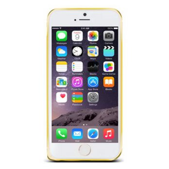 Love Mei Crossline Aluminium Metal Bumper Samsung Iphone 6 Plus Gold