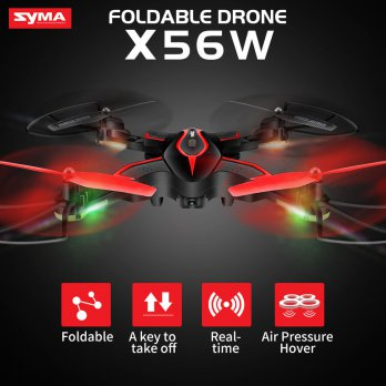 SYMA X56W Foldable Drone FPV WIFI CAMERA VS JJRC H37
