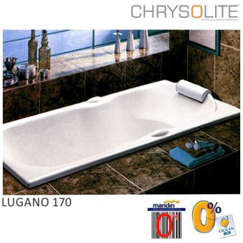 Bathtub Chrysolite - Tipe Lugano 170 Marble White