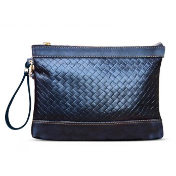 PREMIUM LEATHER CLUTCH ANYAMAN/ UNISEX FASHION CLUTCH ANYAMAN/CUSTOM NAMA