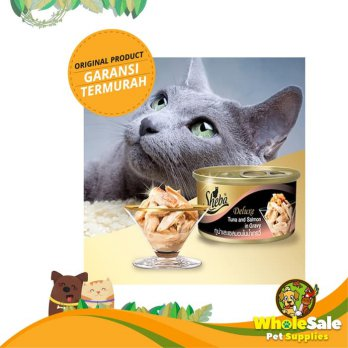 SHEBA TUNA AND SALMON IN GRAVY 85GR - MAKANAN KUCING