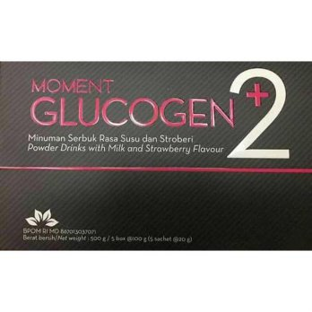 TERBARU Moment Glucogen +2 Strawberry Milk 1 Box isi 25